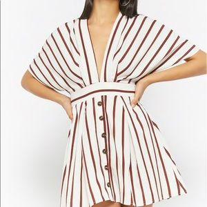 Plunging mini dress